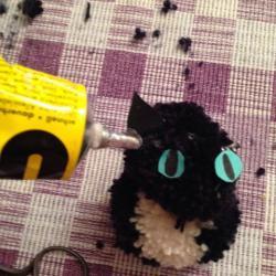 Schritt 21: Katze aus Wolle basteln