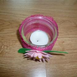 Schritt 8: Rosa-Kerzenbecher selbst basteln