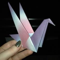 Schritt 17: Origami Papiervogel falten