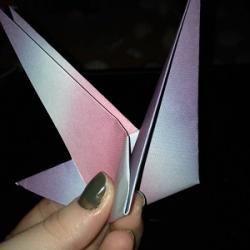 Schritt 14: Origami Papiervogel falten