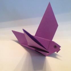 Schritt 11: Vogel aus Papier basteln