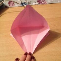 Schritt 9: Kamel aus quadratischem Blatt Papier basteln