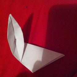 Schritt 5: Ente aus Papier falten