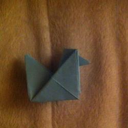 Schritt 9: Hahn aus Papier falten