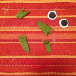 Schritt 13: Frosch aus Wolle basteln