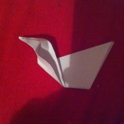 Schritt 6: Ente aus Papier falten