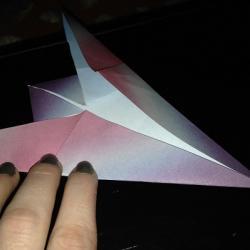 Schritt 7: Origami Papiervogel falten
