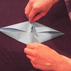 Schritt 9: Papagei aus Papier falten