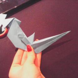 Schritt 29: Papagei aus Papier falten