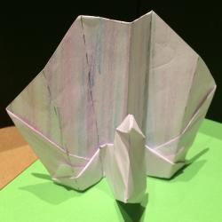 Schritt 14: Pfau aus Papier basteln