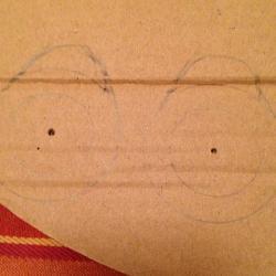 Schritt 3: Marienkäfer Pompon aus Wolle basteln