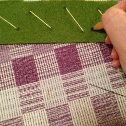 Schritt 8: Schöne Serviettenringe Basteln mit den Wollresten