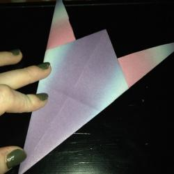 Schritt 8: Origami Papiervogel falten