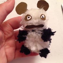 Schritt 23: Pandabär aus Wolle basteln