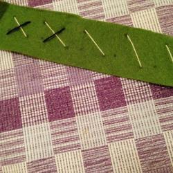 Schritt 9: Schöne Serviettenringe Basteln mit den Wollresten