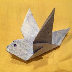 Schritt 8: Taube aus Papier falten