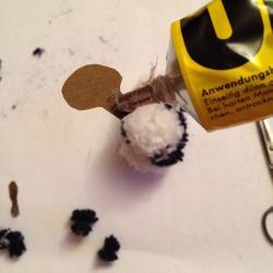 Schritt 22: Pandabär aus Wolle basteln
