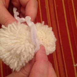 Schritt 15: Schaf aus Wolle basteln