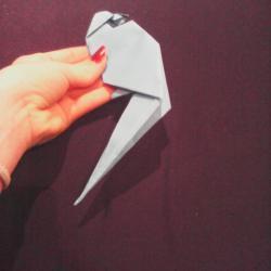 Schritt 26: Papagei aus Papier falten