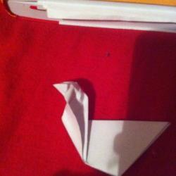 Schritt 7: Ente aus Papier falten