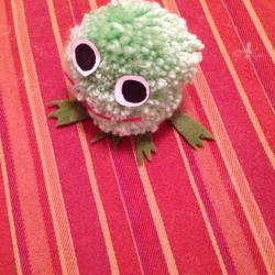 Schritt 17: Frosch aus Wolle basteln