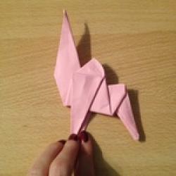Schritt 18: Kamel aus quadratischem Blatt Papier basteln