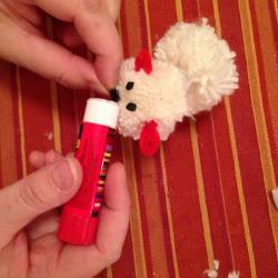 Schritt 23: Schaf aus Wolle basteln