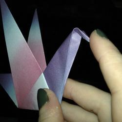 Schritt 16: Origami Papiervogel falten