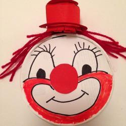 Schritt 21: Clown Maske aus Käseschachtel basteln