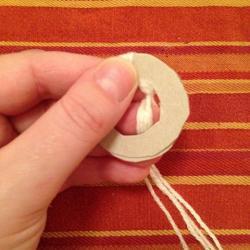 Schritt 4: Schaf aus Wolle basteln
