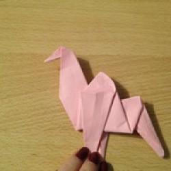 Schritt 19: Kamel aus quadratischem Blatt Papier basteln