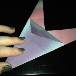 Schritt 9: Origami Papiervogel falten