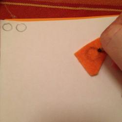 Schritt 10: Raupe aus Wolle basteln