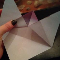Schritt 6: Origami Papiervogel falten