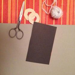 Schritt 1: Maus aus Wolle basteln