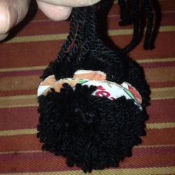Schritt 7: Raben aus Wolle basteln