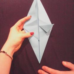 Schritt 10: Papagei aus Papier falten