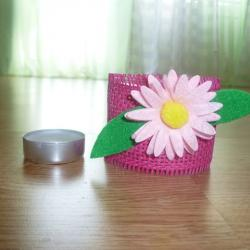 Schritt 7: Rosa-Kerzenbecher selbst basteln