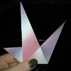 Schritt 15: Origami Papiervogel falten