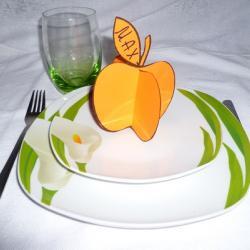 Schritt 6: Dekorativen Apfel als Tischdeko aus Tonpapier basteln