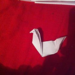 Schritt 12: Ente aus Papier falten
