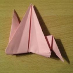 Schritt 16: Kamel aus quadratischem Blatt Papier basteln