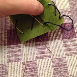 Schritt 11: Schöne Serviettenringe Basteln mit den Wollresten
