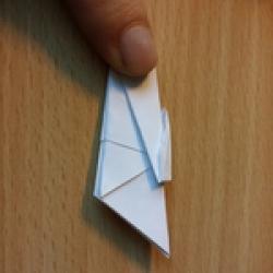 Schritt 8: Origami Schwan falten