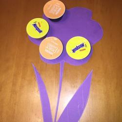 Schritt 8: Blumen aus Kaffeekapseln basteln