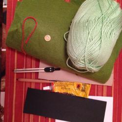 Schritt 1: Frosch aus Wolle basteln