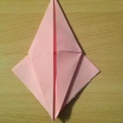 Schritt 11: Kamel aus quadratischem Blatt Papier basteln