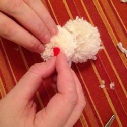 Schritt 18: Schaf aus Wolle basteln