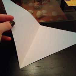 Schritt 3: Origami Papiervogel falten