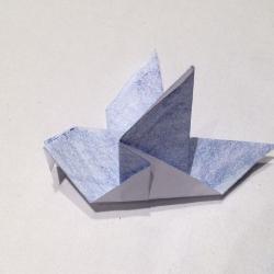 Schritt 7: Taube aus Papier falten